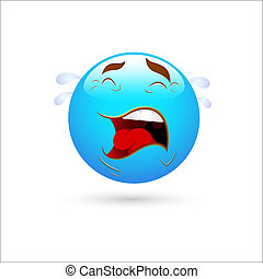 Crying Smiley Icon Vector