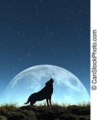 Crying Wolf - This image shows a generated crying wolf with...