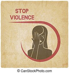crying woman. stop violence concept