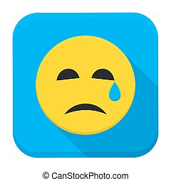 Crying Yellow Smiley Face App Icon