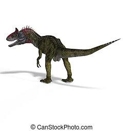 Crylophosaurus - frightening dinosaur cryolophosaurus With...