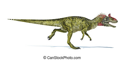 Cryolophosaurus dinosaur, photorealistic and scientifically...