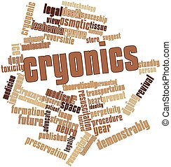Cryonics - Abstract word cloud for Cryonics with related...