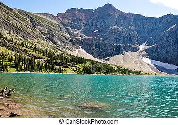 Crypt lake in Waterton National Park, Alberta, Canada.