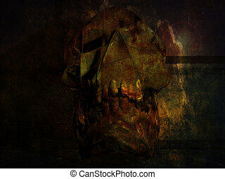 crypte, crâne