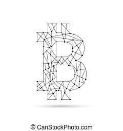 Crypto Bitcoin. - Crypto Bitcoin sign internet virtual money...