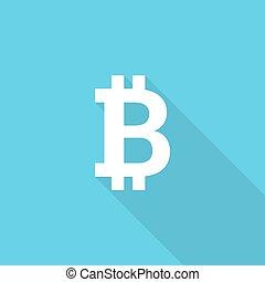 Crypto Bitcoin. - Vector icon of the bitcoin digital...