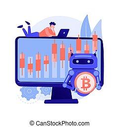 crypto, bot, concepto abstracto, vector, illustration., ...
