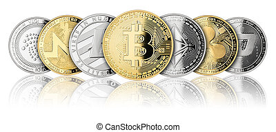 crypto coin panorama row - crypto coin panorama set ...