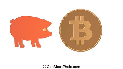 Crypto currency is flying into the piggy bank.