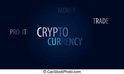Crypto currency word cloud - Crypto currency animated word...