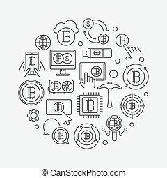 Crypto market round illustration - vector symbol - Crypto ...