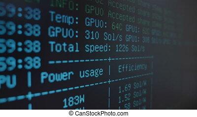 Crypto mining information system running on digital computer...
