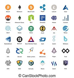 Crypto vector - Vector illustration set, collection of...