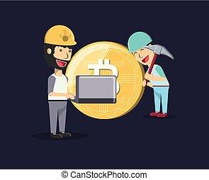 cryptocoins, 採礦, 設計