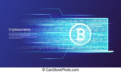 Cryptocurency and digital money concept. Vector illustration