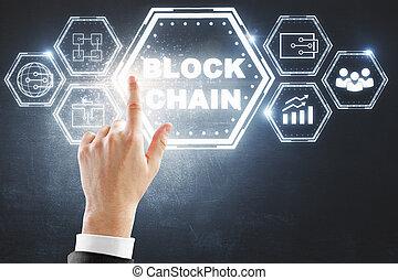cryptocurrency, γενική ιδέα , εμποδίζω , αλυσίδα