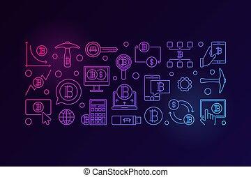 cryptocurrency, τεχνολογία , σημαία , γραφικός
