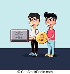 cryptocurrency, 設計, bitcoin