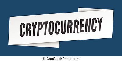 cryptocurrency banner template. cryptocurrency ribbon label ...