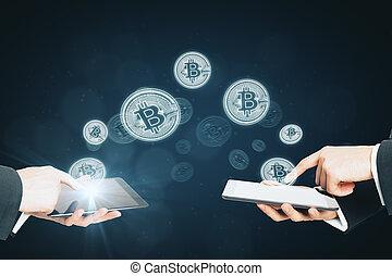 cryptocurrency, begrepp, betalning