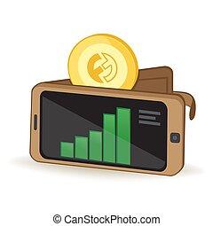 cryptocurrency, billetera, funfair, moneda, digital