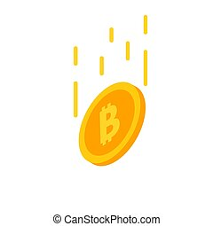 Cryptocurrency Bitcoin decline concept.