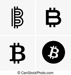 cryptocurrency, bitcoin, icônes