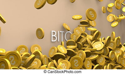 Cryptocurrency Bitcoin value increase