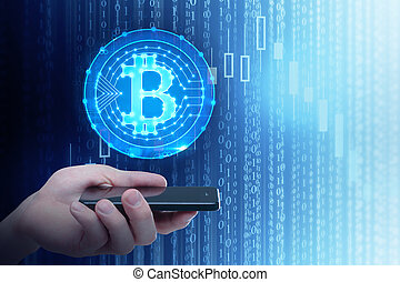 cryptocurrency, calculer, concept