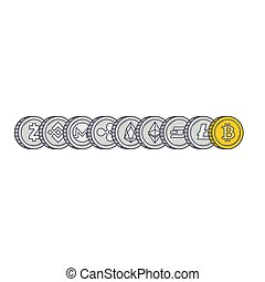 Cryptocurrency coins background