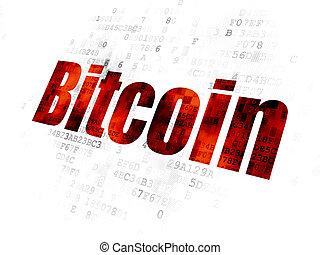 cryptocurrency, concept:, bitcoin, fond, numérique