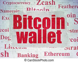 cryptocurrency, concept:, bitcoin, levéltárca, képben...