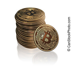 cryptocurrency, concept, blockchain, bitcoins