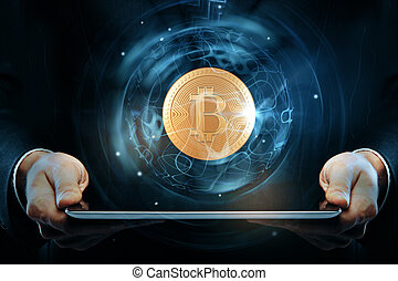 cryptocurrency, concept, e-affaires