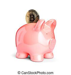 cryptocurrency, concept, financier, économie