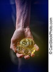 cryptocurrency, concept., investissement
