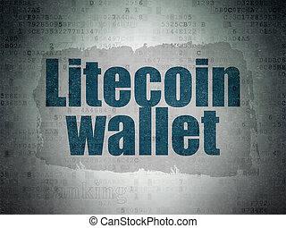 cryptocurrency, concept:, litecoin, levéltárca, képben...