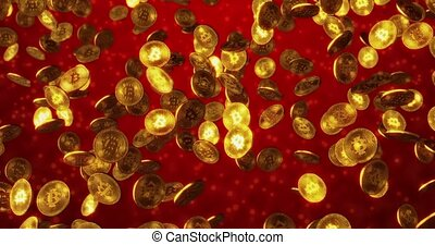 Cryptocurrency concept of Virtual currency - Bitcoin gold...