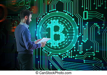 cryptocurrency, concept, paiement