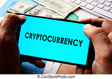 Cryptocurrency concept.