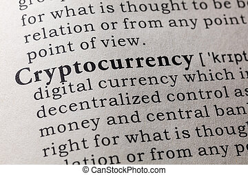 cryptocurrency, définition