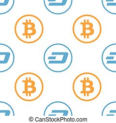 Cryptocurrency dash seamless business pattern free trade