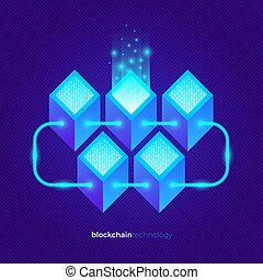 Cryptocurrency data abstract design