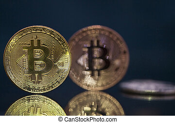 cryptocurrency, doré, bitcoin