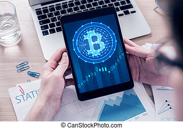 cryptocurrency, e-affaires, concept