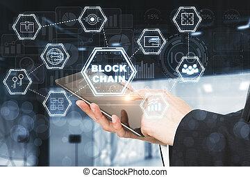 cryptocurrency, e, finanças, conceito