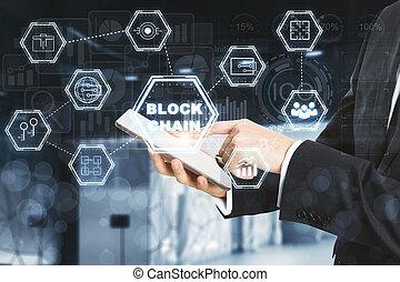 cryptocurrency, e, pagamento, conceito