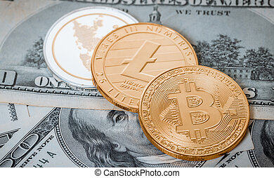 cryptocurrency, en, honderd dollars, rekeningen