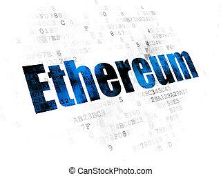 cryptocurrency, ethereum, concept:, fond, numérique